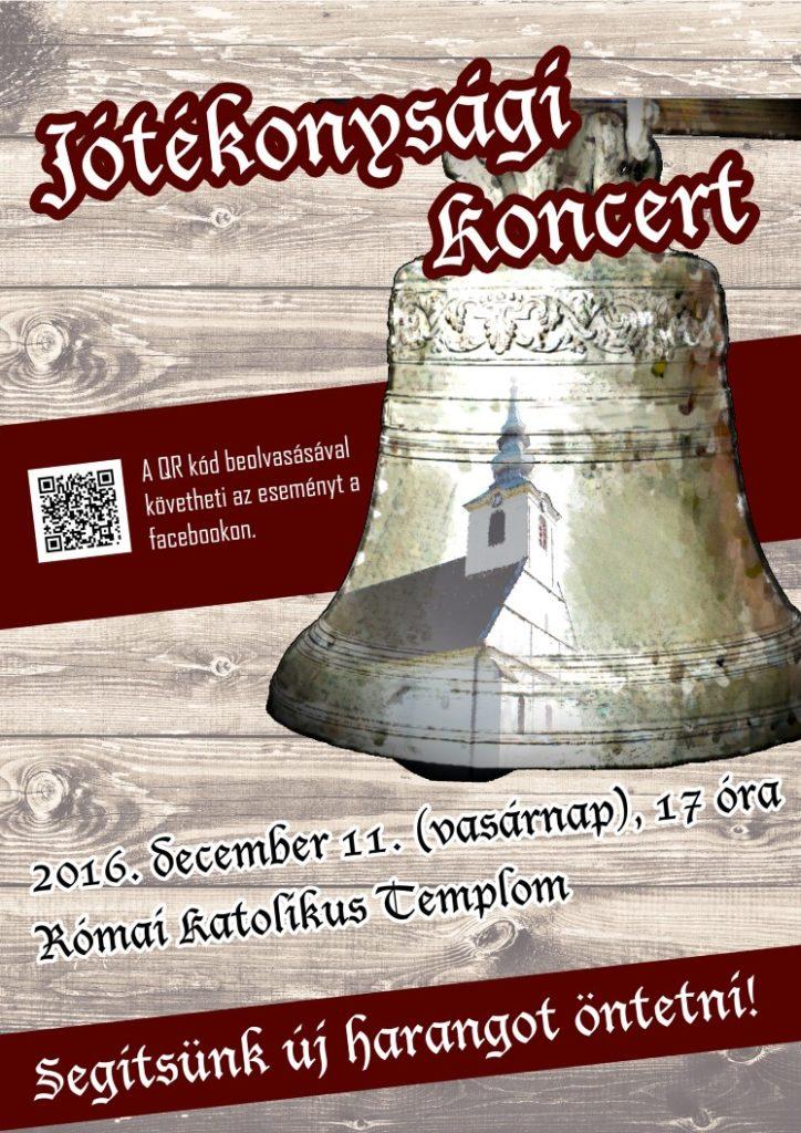 A jótékonysági koncert plakátja