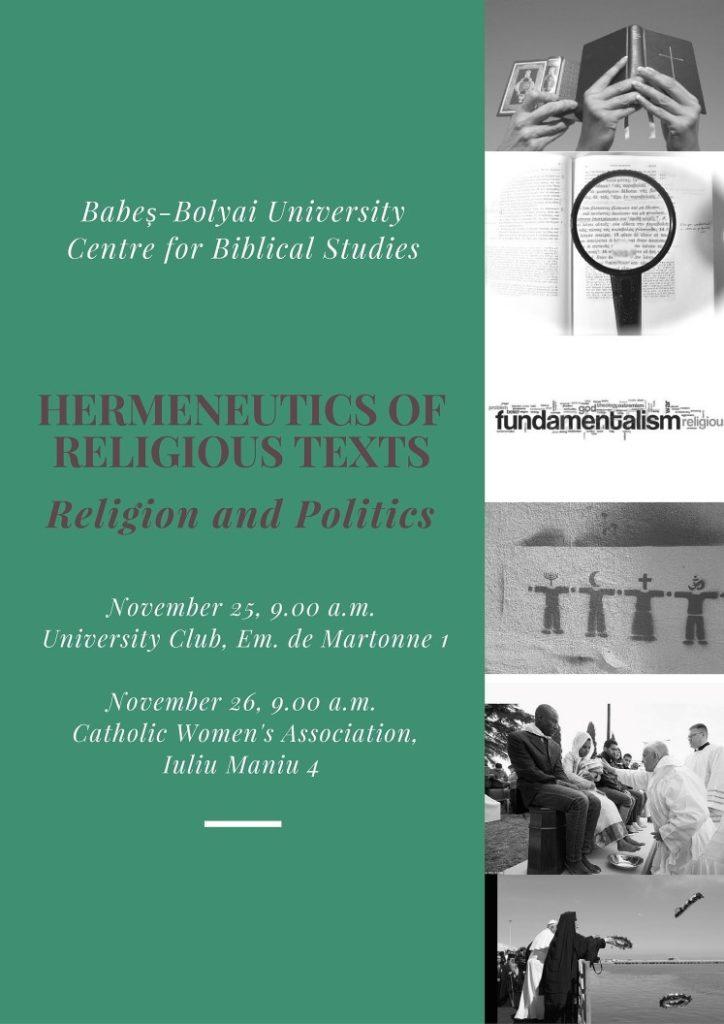 Az angol nyelvű konferencia plakátja